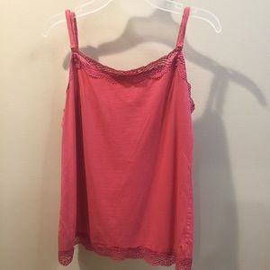 Ann Taylor lace lined cami